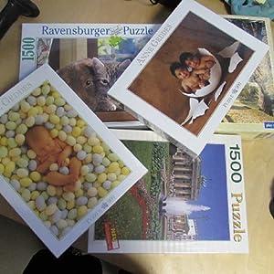 Ravensburger Puzzle - Hund und Katze kuscheln, 1500 Teile: Pepperle, Walter: