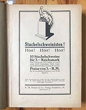 Das Stachelschwein. Hrsg. v. H. Reimann. 6 Hefte, Jahrgang 1926.