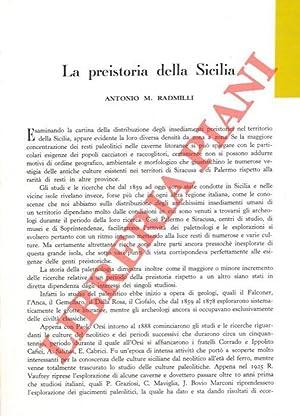 La preistoria della Sicilia.: RADMILLI Antonio M.