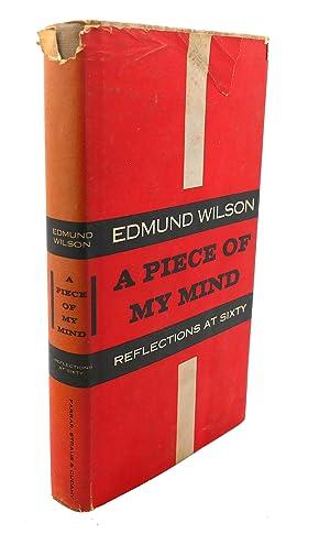 A PIECE OF MY MIND: Edmund Wilson