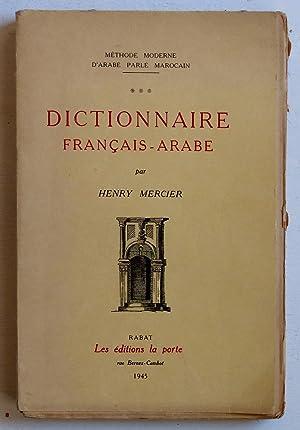 Dictionnaire français-arabe [arabe marocain]: Mercier, Henry