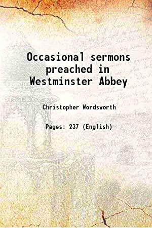 Occasional sermons preached in Westminster Abbey 1850: Christopher Wordsworth