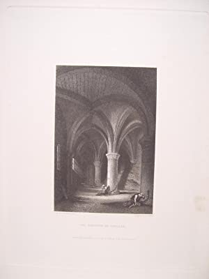 Suiza. «The Dungeon of Chillon» Dibujó George Clarkson Stanfield (1828-1876). Grabó Edward F. Fin...