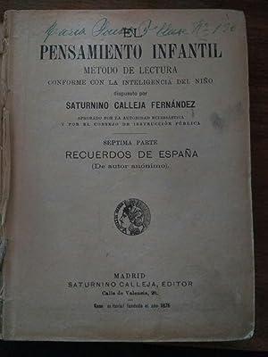 El pensamiento infantil, método de lectura conforme: CALLEJA FERNANDEZ, Saturnino