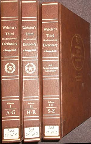 Seller image for Webster's Third New International Dictionary of the English Language Unabridged with seven language dictionary (3 vols.cpl./ 3 Bände KOMPLETT) - A to Z. for sale by Petra Gros
