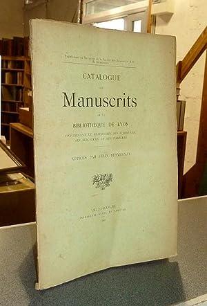 Catalogue des Manuscrits de la Bibliothèque de: Desvernay, Félix