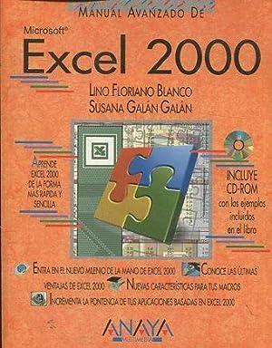 MANUAL AVANZADO DE MICROSOFT EXCEL 2000.: BLANCO/ GALAN GALAN