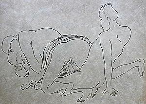 """Seller image for Album de 10 estampes érotiques d'esprit Japonais (Shunga) édité aux dépens des """"Amis de l'Art Nippon"""". for sale by Bouquinerie Aurore (SLAM-ILAB)"""