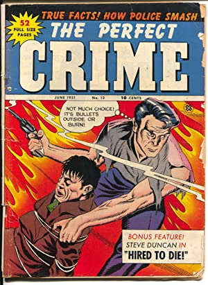 Perfect Crime #13 1951-Cross Pubs-Torture-violence-arson-murder-VG