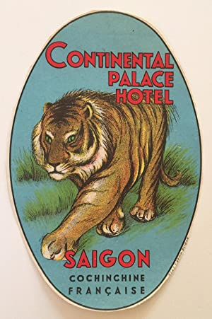 Original Vintage Luggage Label - Continental Palace Hotel Saigon