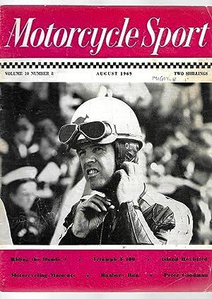 MOTORCYCLE SPORT Magazine. AUGUST 1969