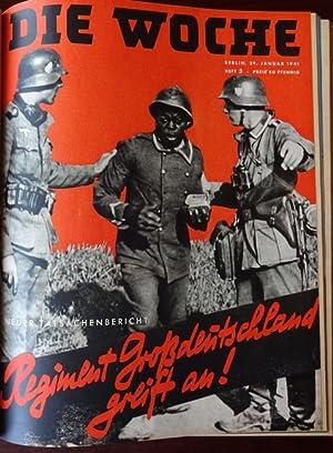 Die Woche. Jahrgang 42. Heft Nr. 1 - 13. 1941. Gebunden in einem Band.: Die Woche:
