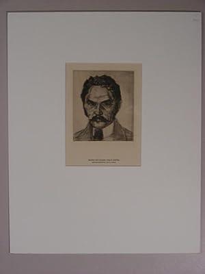 "Bildnis des Malers Carlos Grethe("").: Pankok, Bernhard:"