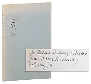 Mr Eric Gill: Recollections [Inscribed & Signed with Two of the Author's Bookplates Laid in]