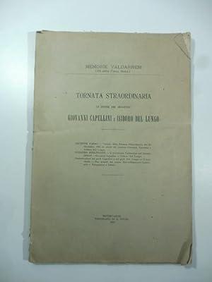 Memorie valdarnesi. Tornata straordinaria in onore dei senatori Giovanni Capellini e Isidoro Del ...