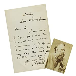 """Autograph letter signed """"G. F. Watts"""": Watts, G[eorge] F[rederick]"""