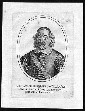 """Alexander Erskeinius"""" - Alexander Erskein Jurist Greifswald Portrait Kupferstich antique print:..."""