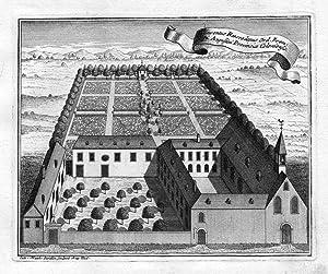 """""""Conventus Roesrodanus"""" - Rösrath Nordrhein-Westfalen Kloster Kupferstich antique print: ..."""