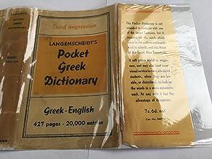 Langenscheidt's Pocket Greek Dictionary. Greek - English: K. S. Feyerabend