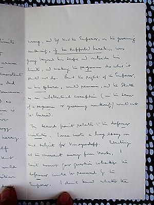 1938 SIR ERNEST BARKER Four Page HANDWRITTEN LETTER: SIR ERNEST BARKER