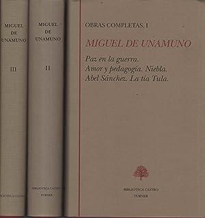 OBRAS COMPLETAS, I, II y III NARRATIVA: UNAMUNO, MIGUEL DE-
