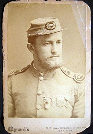 Circa 1880 Cabinet Card Photograph of a Uniformed Man Identified as Sully Leseman Professor of ...