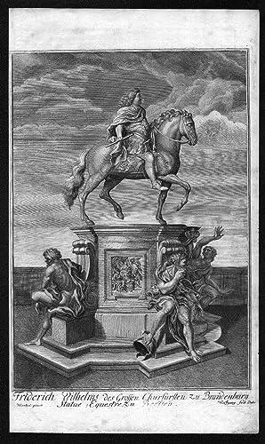 """Friderich Wilhelms des Grossen Churfürsten zu Brandenburg Statue Equestre zu Berlien"""" - ..."""