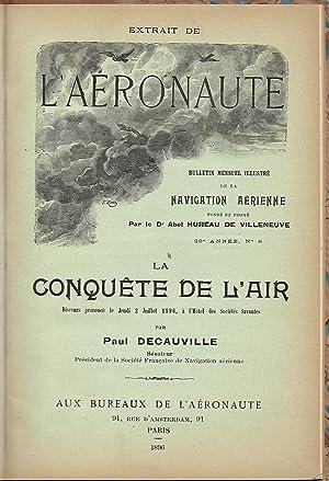 2 Ausgaben von] - DECAUVILLE, Paul: Impressions de mon Premier Voyage Aérien. [= L'Aéronaute ...