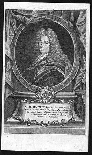"""Johannes Paulinus a Lillienstedt"""" - Johan Paulinus Lillienstedt Sverige Portrait Kupferstich ..."""