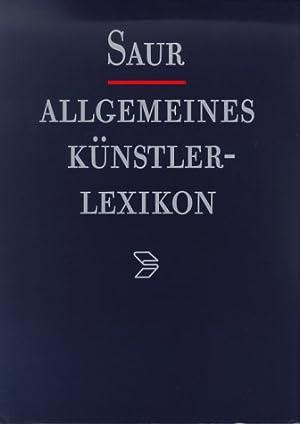 Saur Allgemeines Künstlerlexikon. Die Bildenden Künstler aller Zeiten und Völker (in 2 Bänden). ...