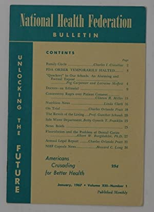 National Health Federation Bulletin - January 1967 - Volume XIII Number 1