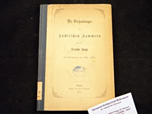 DIE VERHANDLUNGEN DER SÄCHSISCHEN KAMMERN ÜBER DIE DEUTSCHE FRAGE.- Auf dem Landtage von 1860 - ...