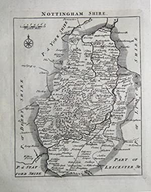 NOTTINGHAMSHIRE, John Rocque, England Displayed, Antique County Map 1769
