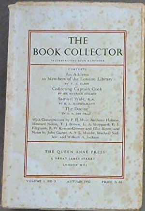The Book Collector incorporating Book Handbook -: Eliot, T S