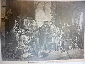 Orig. Holzstich - Malerei - Giovanni Bellini bei Albrecht Dürer.