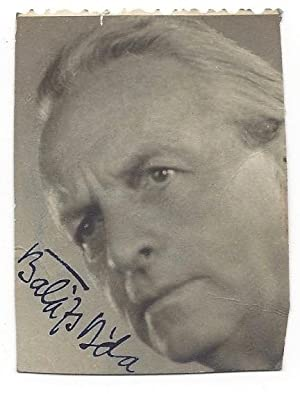 Signed Portrait Of Béla Balázs