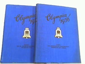 Olympia 1936 - Konvolut aus 2 Sammelbilderalben (vollständig) ! 1. Olympia 1936. Die Olympischen ...