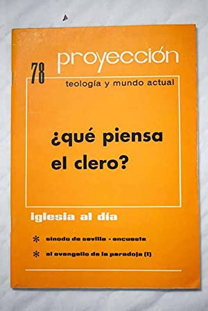 Proyección: apuntes universitarios de teología. Número 78.