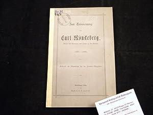 Zur Erinnerung an Carl Mönckeberg. Doctor der Theologie und Pastor zu St, Nicolai. 1807 - 1886.: ...