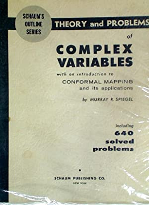 Theory and Problems of Complex Variables with: Spiegel, Murray