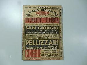 Orario regionale delle ferrovie italiane F.lli Pozzo Piemonte-Liguria e province limitrofe: Anonimo