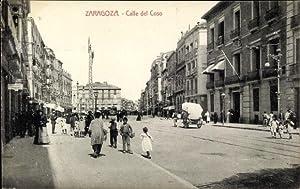Ansichtskarte / Postkarte Saragossa Aragonien Spanien, Calle