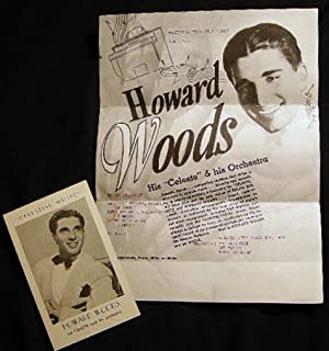 "1939 Flyer and Performance Card for Howard Woods His ""Celeste"" & His Orchestra Smooth, ..."