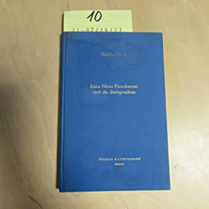 Enea Silvio Piccolomini und die Jurisprudenz (signierte Ausgabe): Kisch, Guido:
