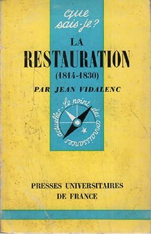 La restauration (1814-1830 ): Vidalenc Jean