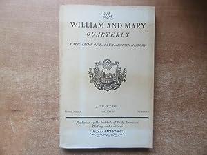 The William and Mary Quarterly, A Magazine: Selby, John E.;