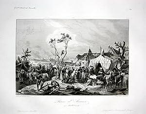 "Prise d'Anvers"" - Antwerpen Anvers bataille Ansicht vue estampe Stahlstich antique print: ..."