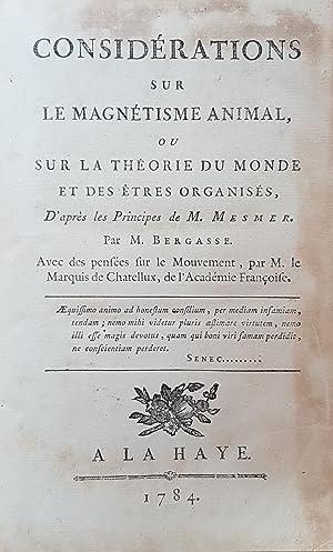 Considérations sur le magnétisme animal, ou Sur la théorie du Monde et des êtres organisés, d'...