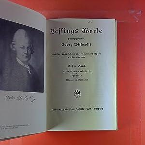 Deutsche Klassiker. Auswahl aus Meyers Klassiker-Ausgaben. Lessings Werke. Erster Band. Lessings ...