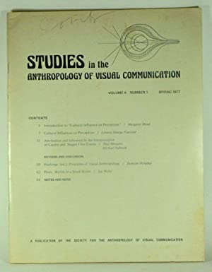 Studies in the Anthropology of Visual Communication,: Worth, Sol (ed.);